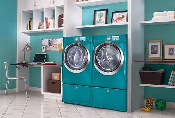 Colorful Washer & Dryer