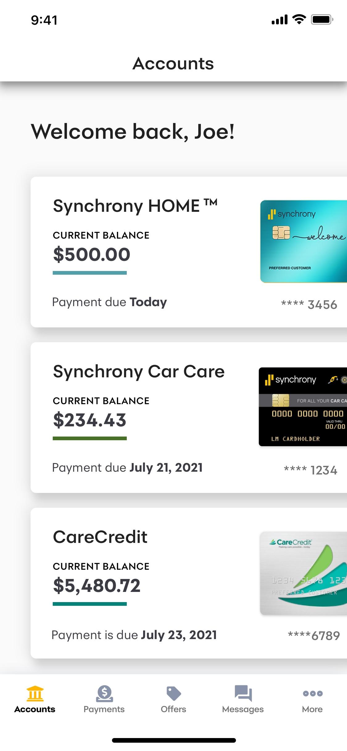 MySynchrony Mobile App MySynchrony