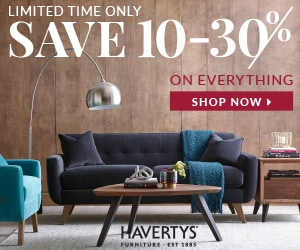 Havertys: Limited Time Only. Save 10-30% on everything! Shop Now